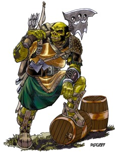 'D+D Half Orc' by mattPLOG http://mattplog.deviantart.com/art/D-D-Half-Orc-126053374