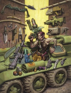 'Guns' by Mark Zug [http://markzug.com/shadowrun-and-its-shadows/shadowrun/2843112]